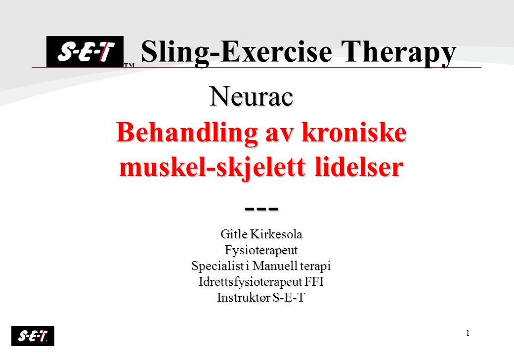 Behandling av kroniske muskel-skjelett lidelser