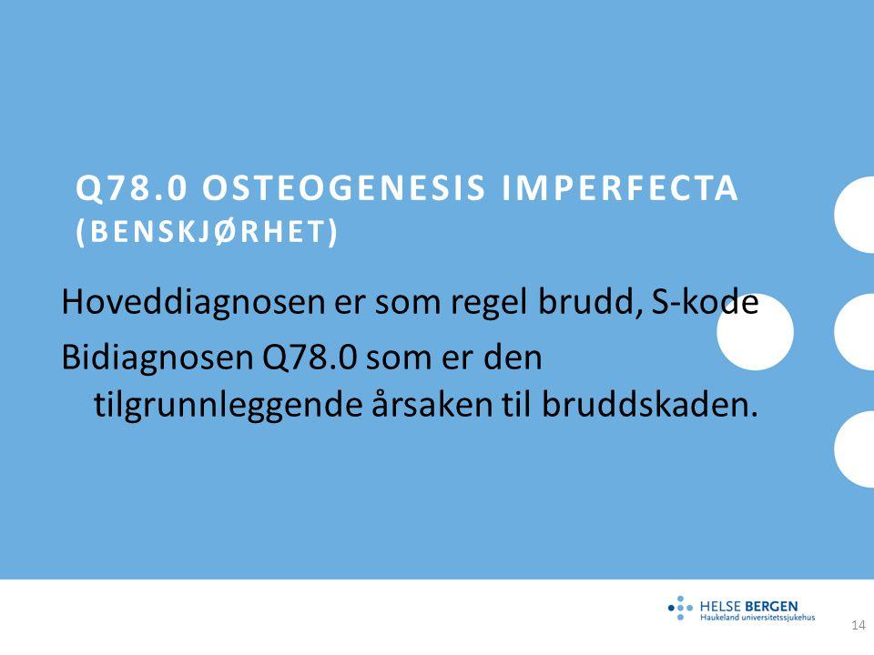 Q78.0 Osteogenesis imperfecta (benskjørhet)