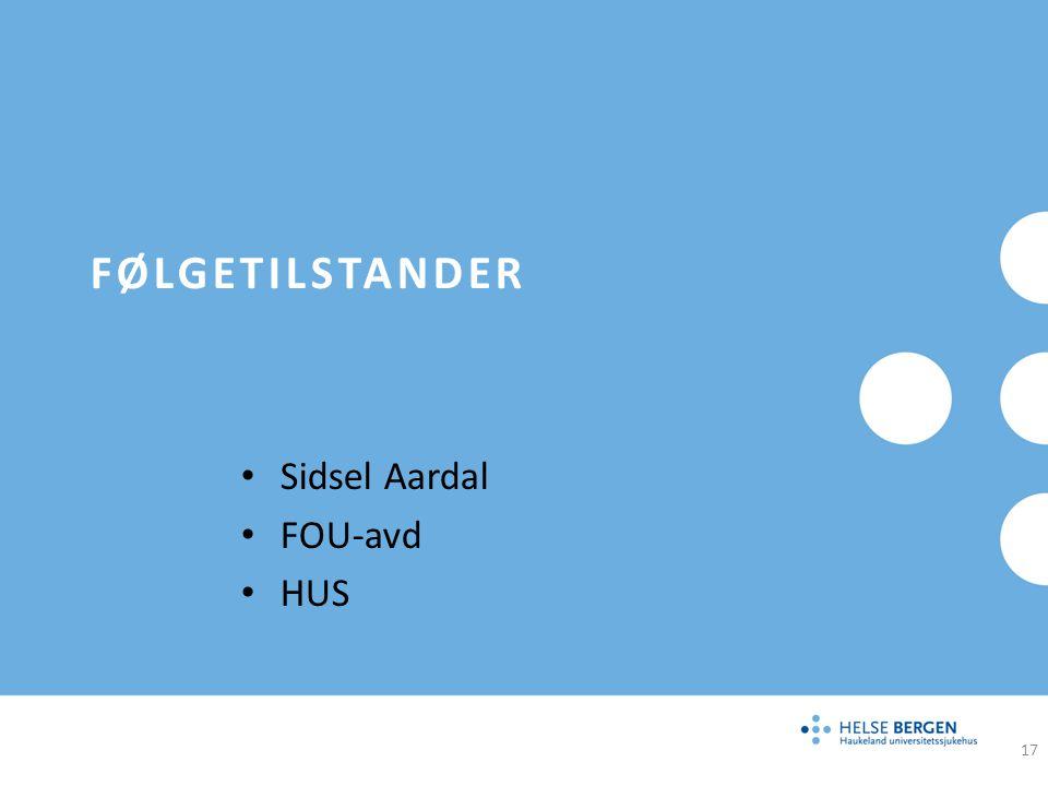 Sidsel Aardal FOU-avd HUS