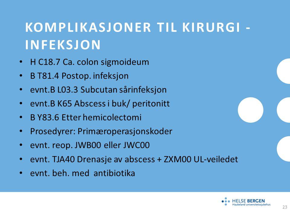 Komplikasjoner til kirurgi -infeksjon