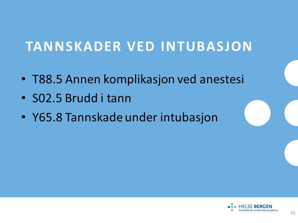 Tannskader ved intubasjon