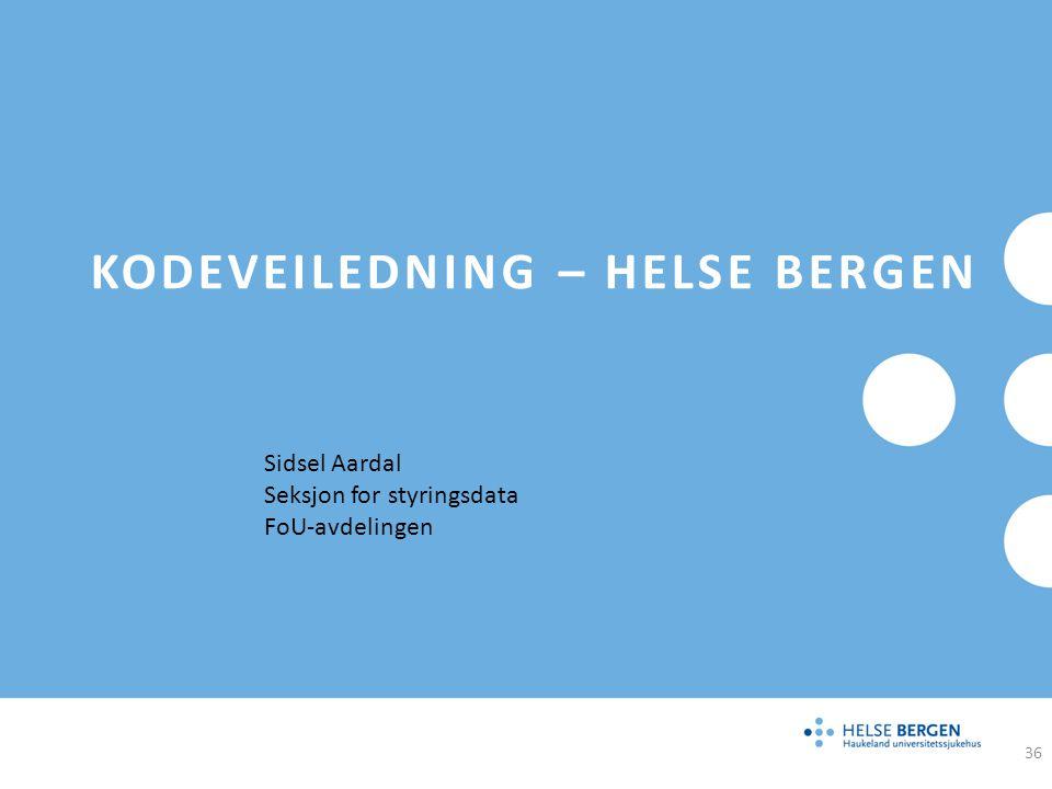 Kodeveiledning – Helse Bergen