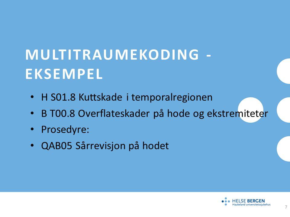 Multitraumekoding - eksempel