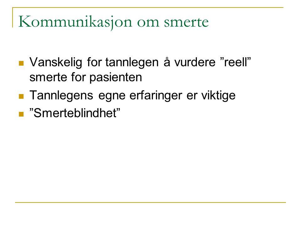 Kommunikasjon om smerte
