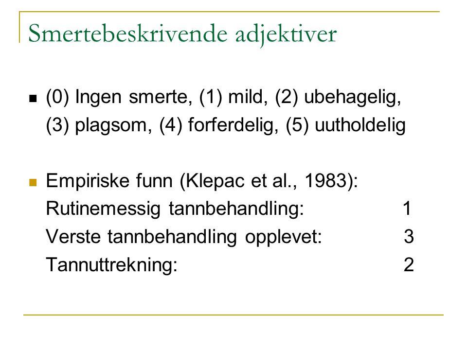 Smertebeskrivende adjektiver