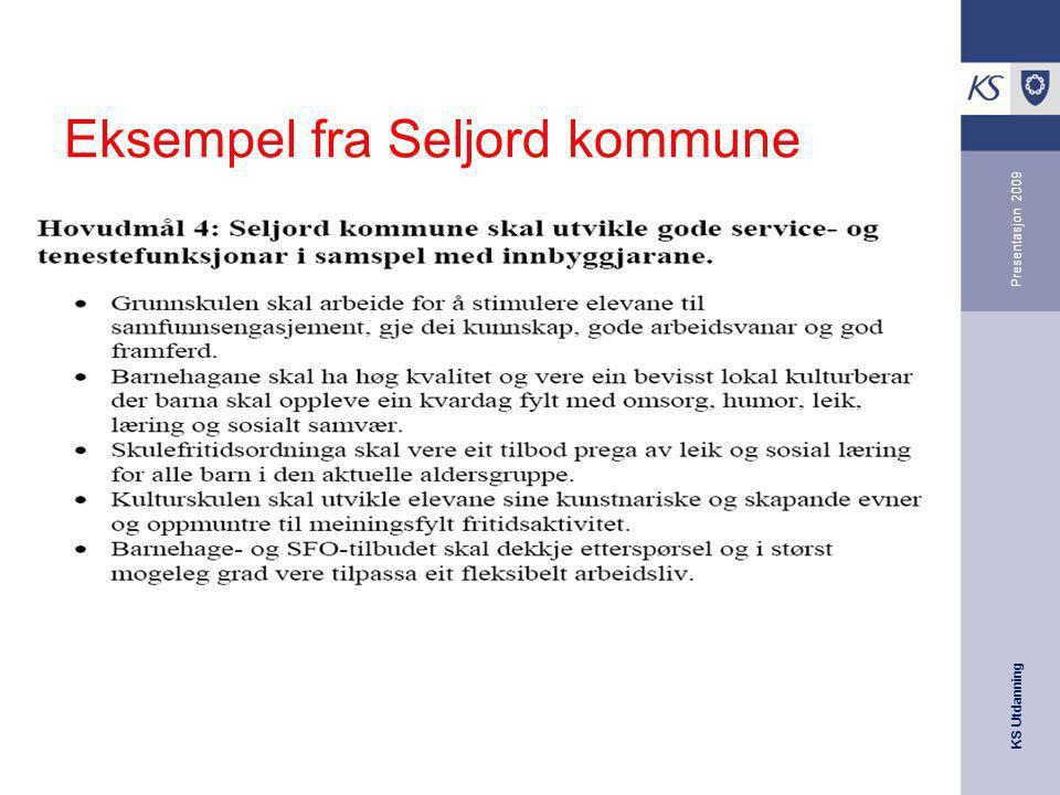 Eksempel fra Seljord kommune