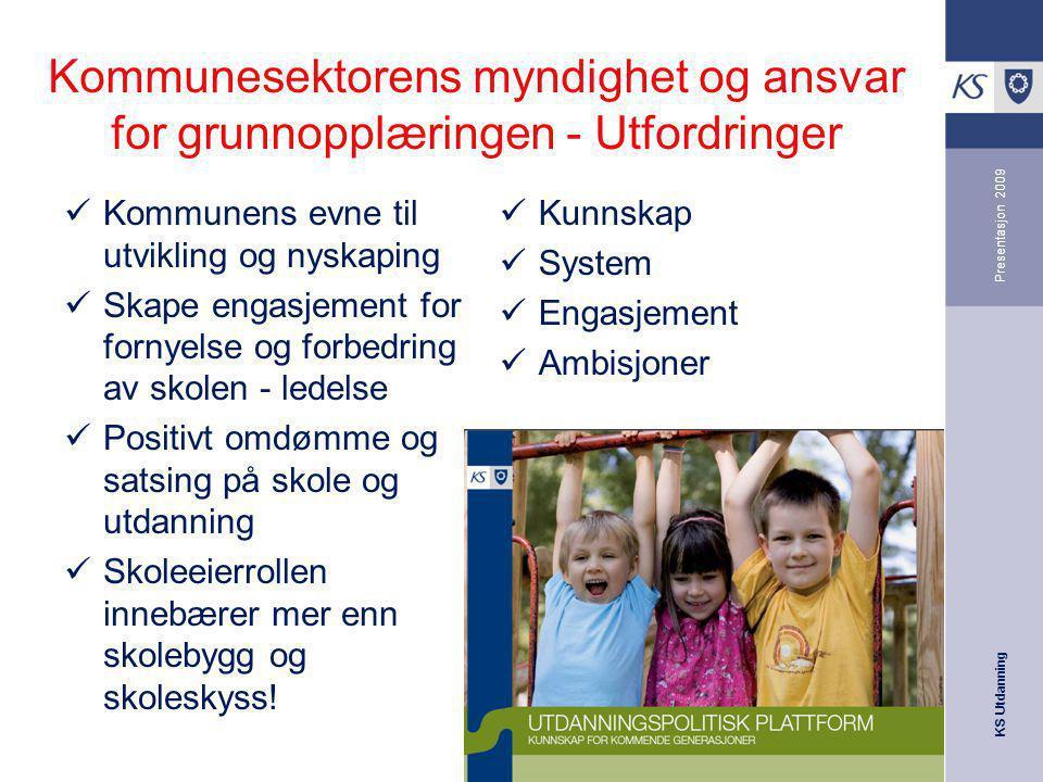 Kommunesektorens myndighet og ansvar for grunnopplæringen - Utfordringer