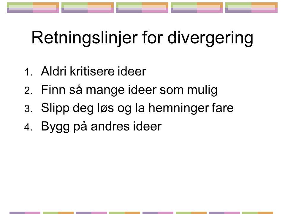 Retningslinjer for divergering