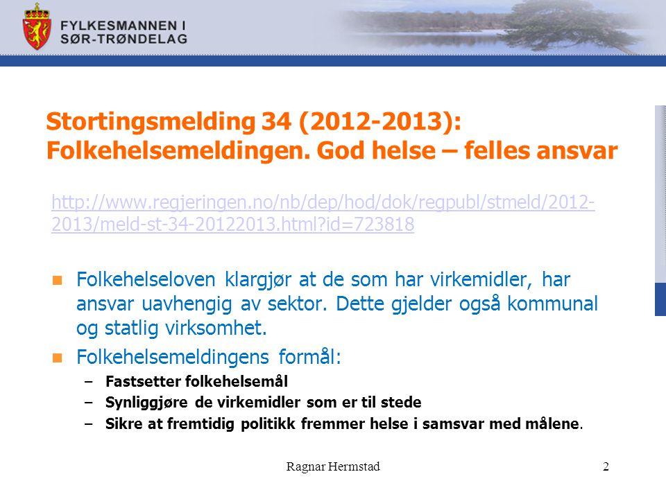 Stortingsmelding 34 (2012-2013): Folkehelsemeldingen