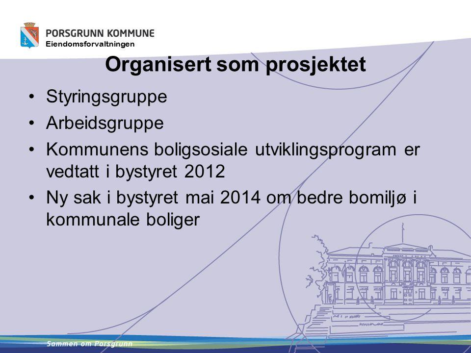 Organisert som prosjektet