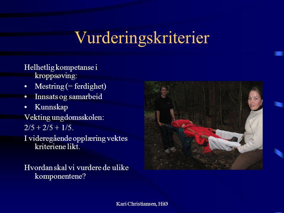 Vurderingskriterier Helhetlig kompetanse i kroppsøving: