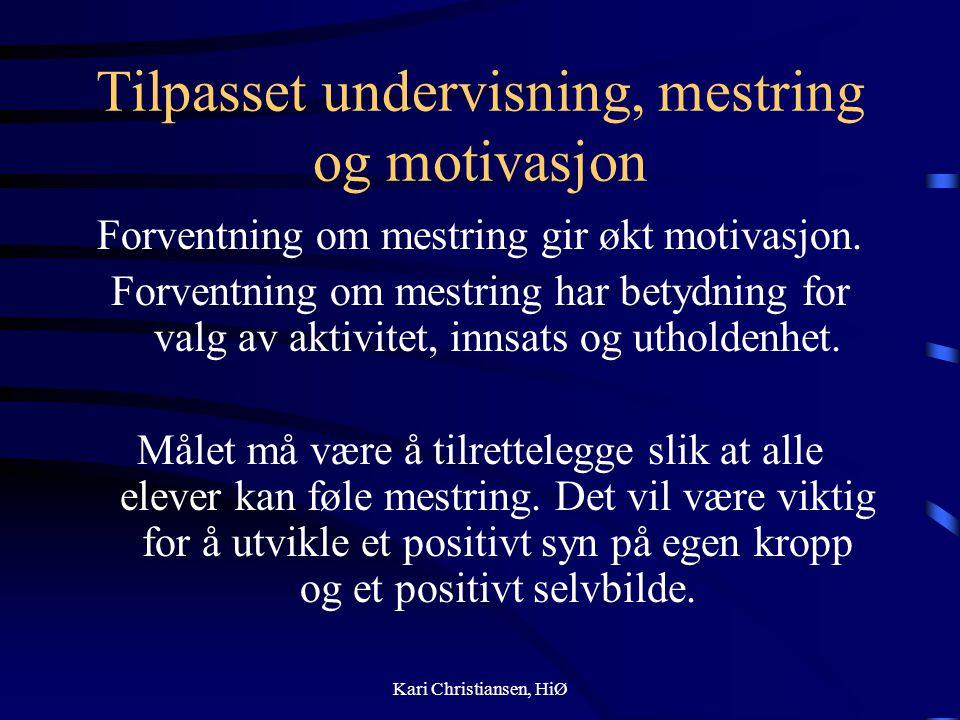 Tilpasset undervisning, mestring og motivasjon