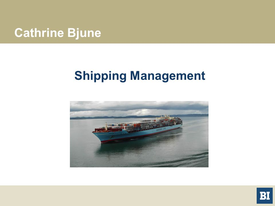 Cathrine Bjune Shipping Management
