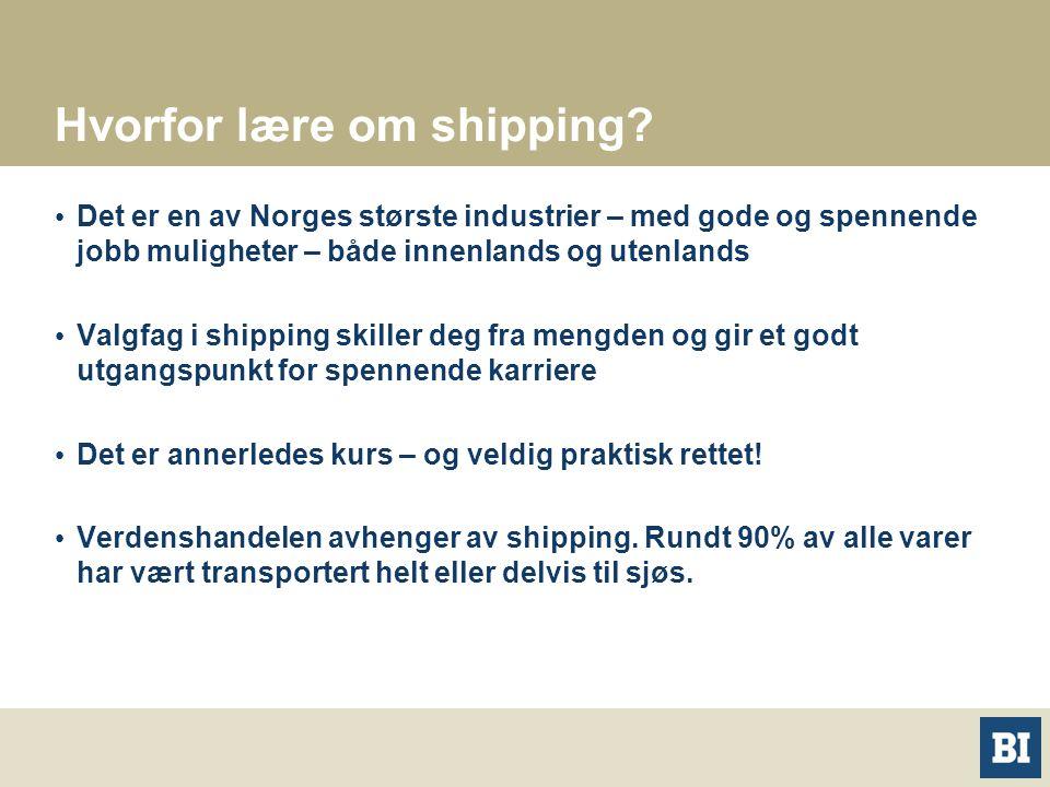 Hvorfor lære om shipping