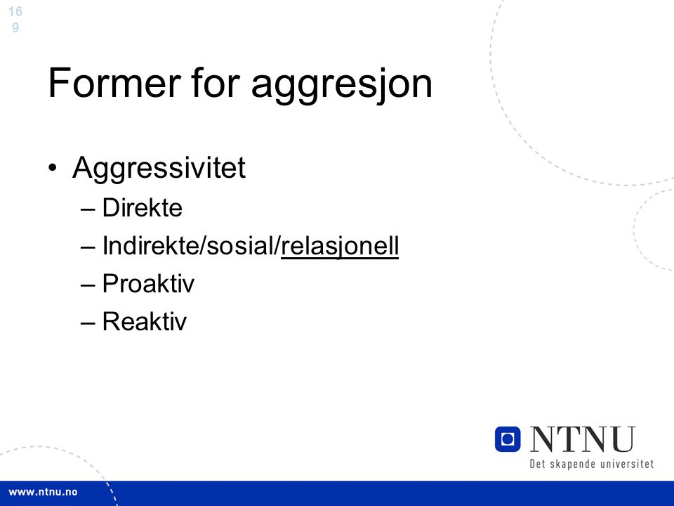 Former for aggresjon Aggressivitet Direkte
