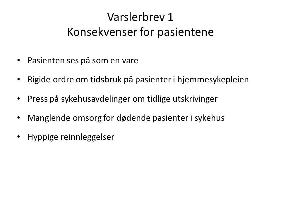Varslerbrev 1 Konsekvenser for pasientene