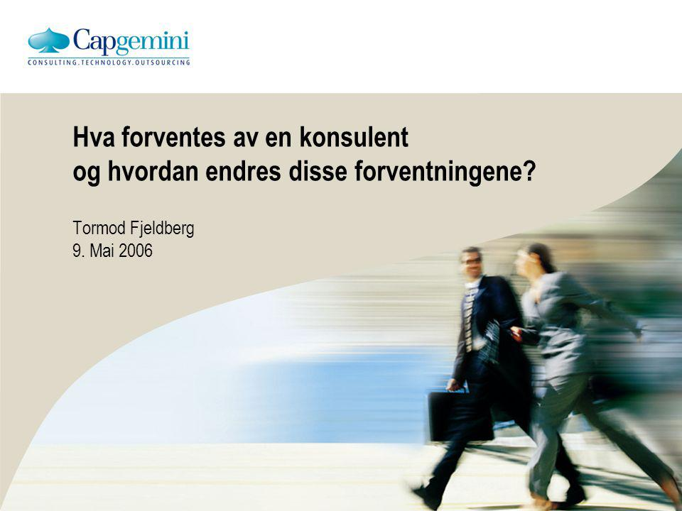 Hvem er jeg Tormod Fjeldberg – sjefskonsulent Roller