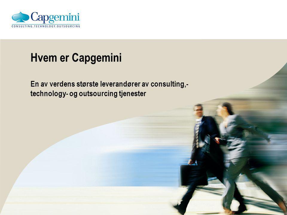 Capgemini visjon Capgemini skal bli det globalt ledende