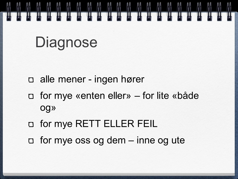 Diagnose alle mener - ingen hører