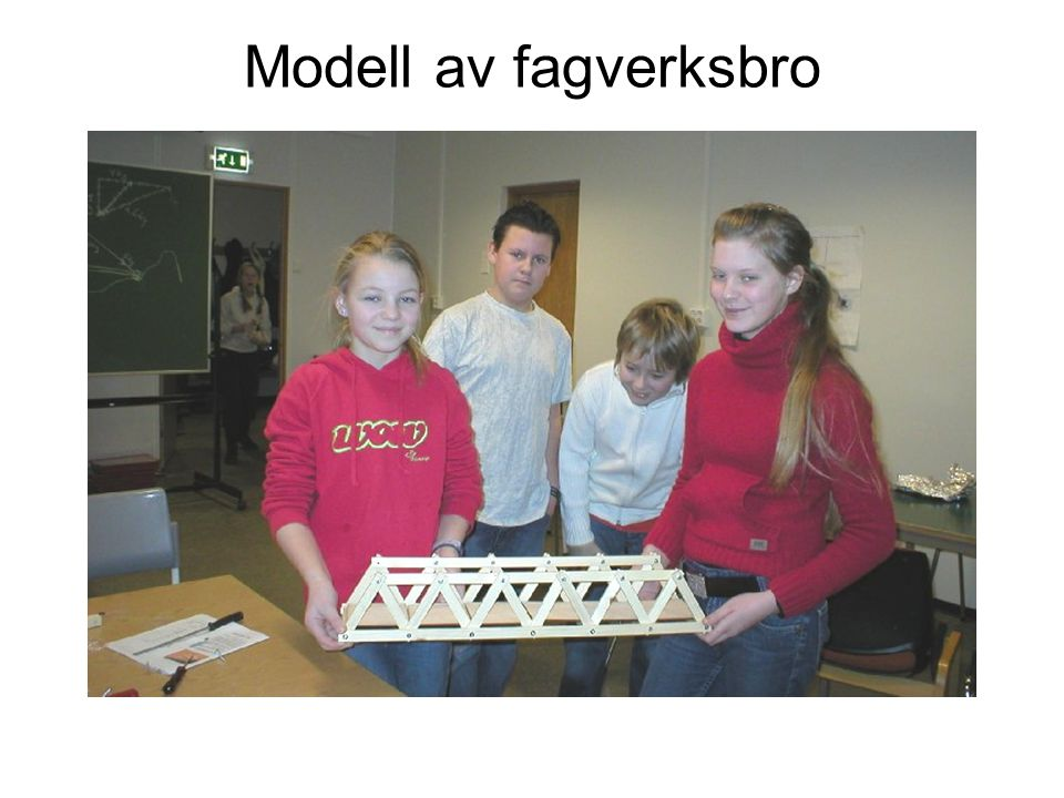 Modell av fagverksbro