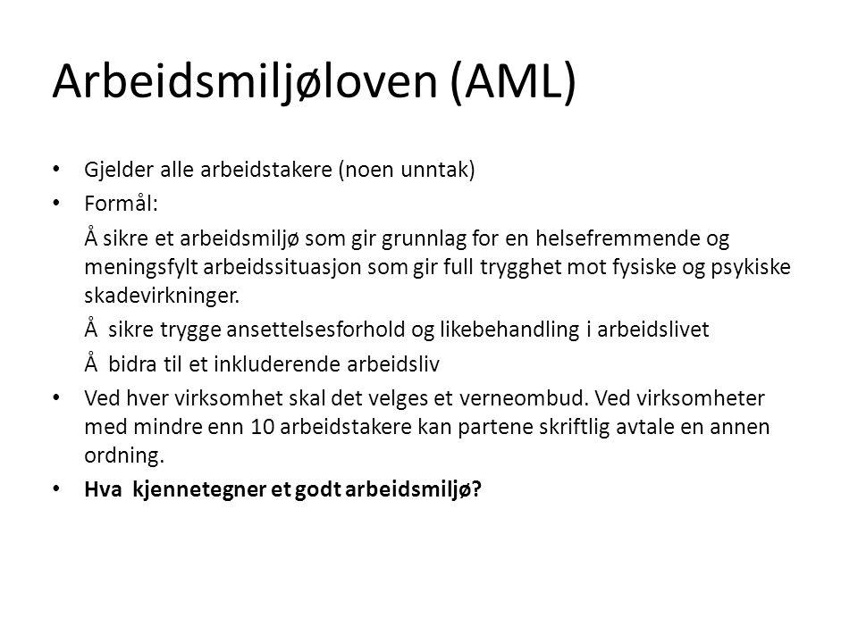 Arbeidsmiljøloven (AML)