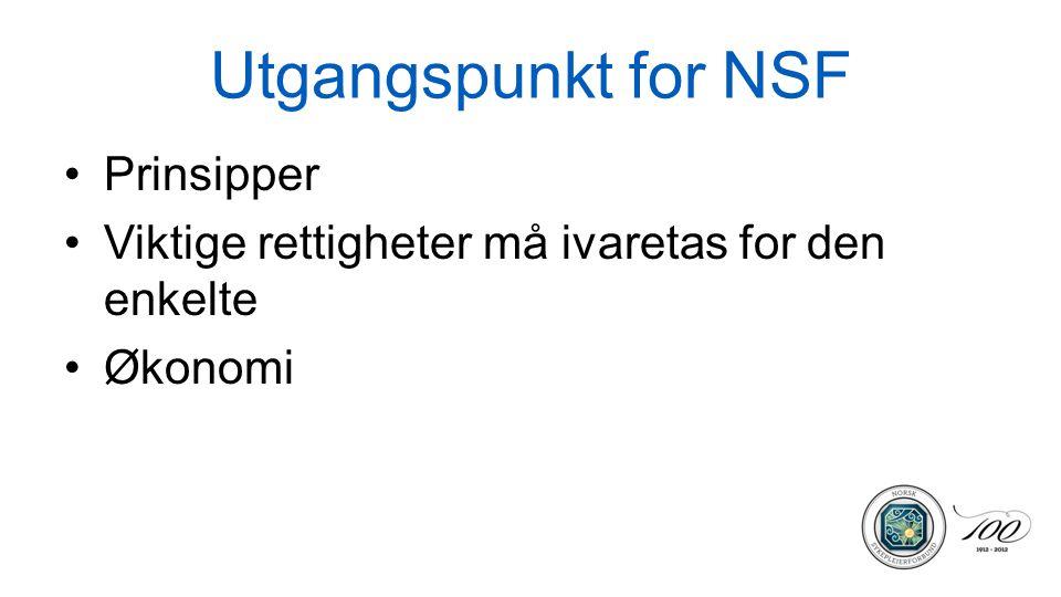 Utgangspunkt for NSF Prinsipper