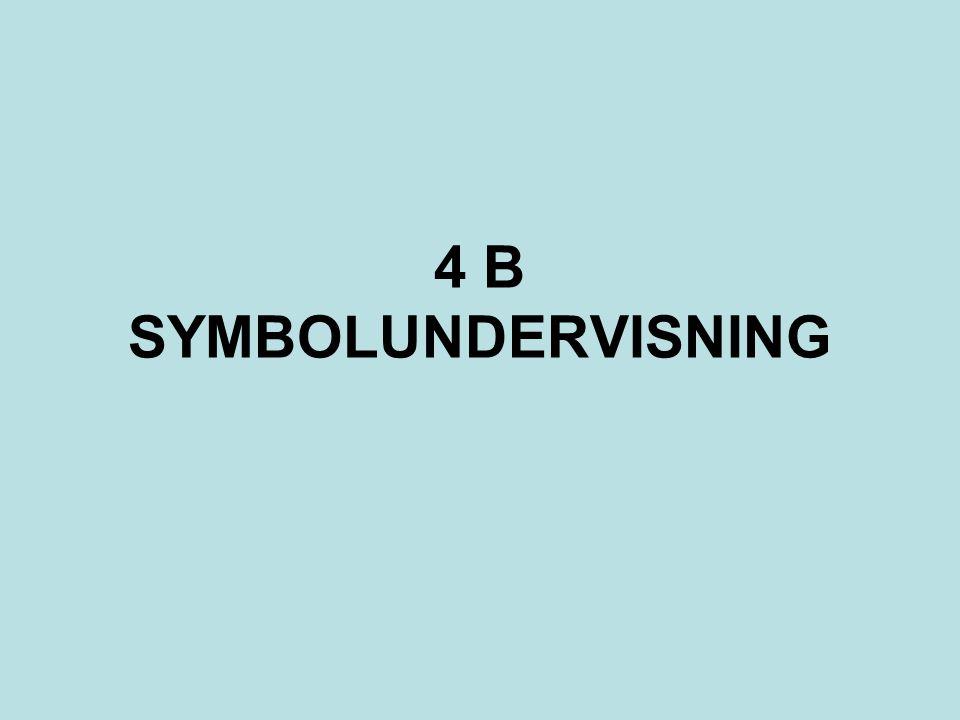 4 B SYMBOLUNDERVISNING