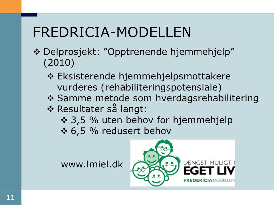 FREDRICIA-MODELLEN Delprosjekt: Opptrenende hjemmehjelp (2010)