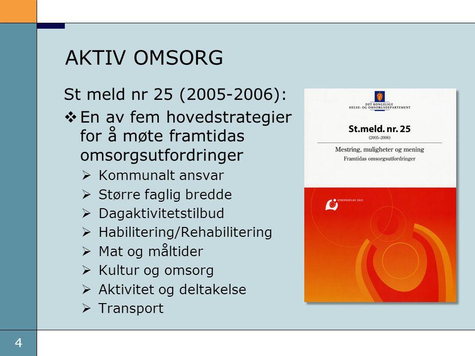 AKTIV OMSORG St meld nr 25 (2005-2006):