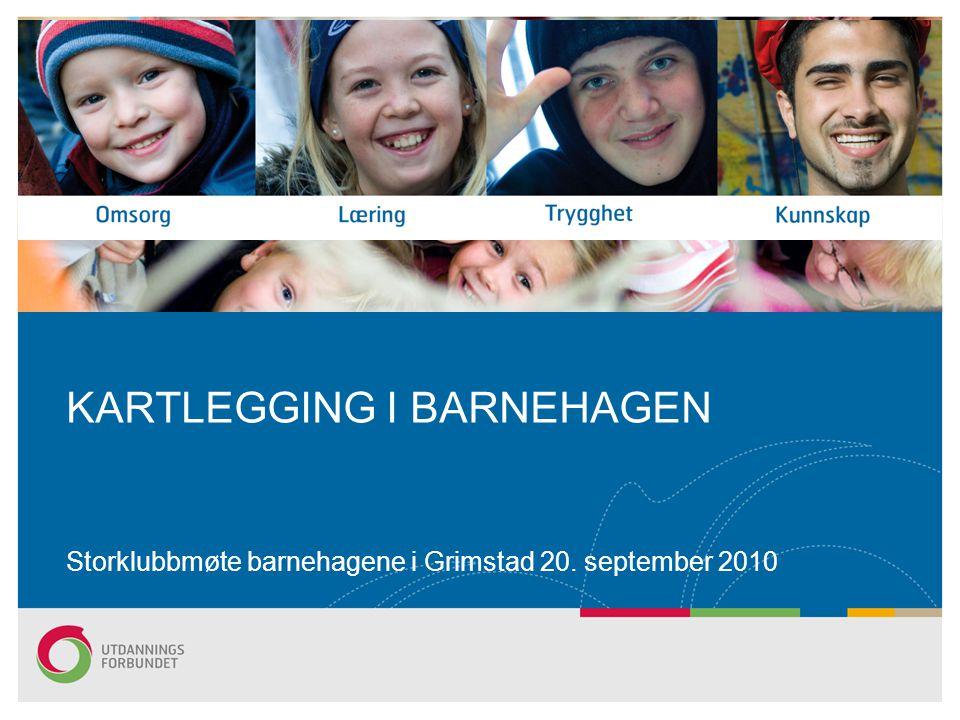 KARTLEGGING I BARNEHAGEN