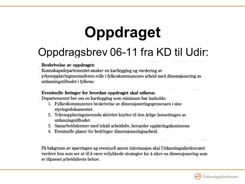 Oppdragsbrev 06-11 fra KD til Udir:
