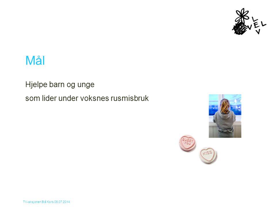 Mål Hjelpe barn og unge som lider under voksnes rusmisbruk