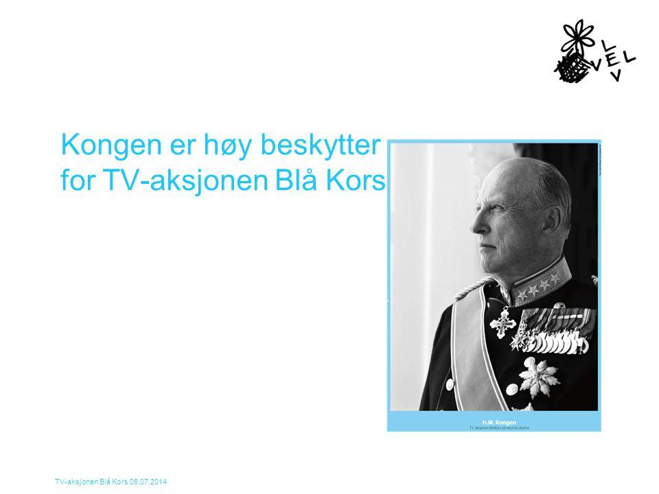 Kongen er høy beskytter for TV-aksjonen Blå Kors