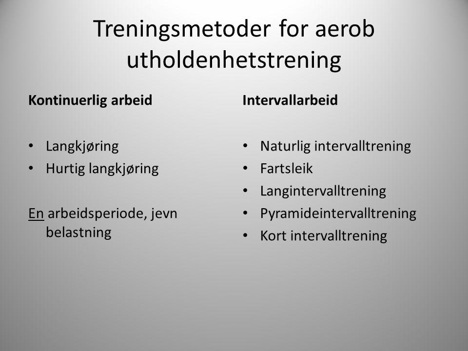 Treningsmetoder for aerob utholdenhetstrening