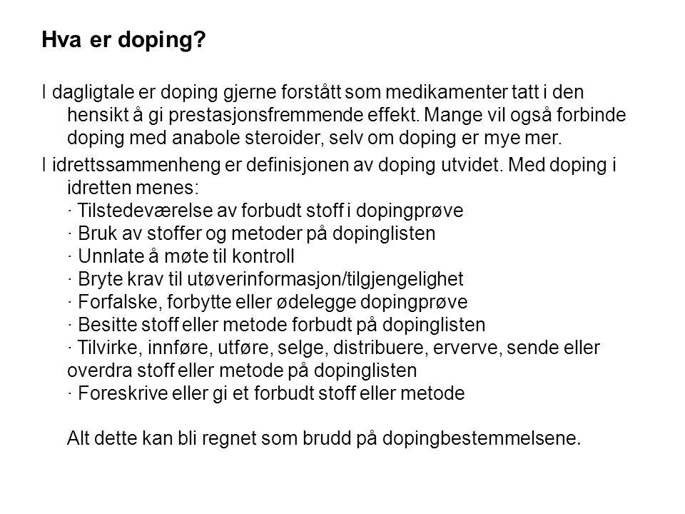 Hva er doping