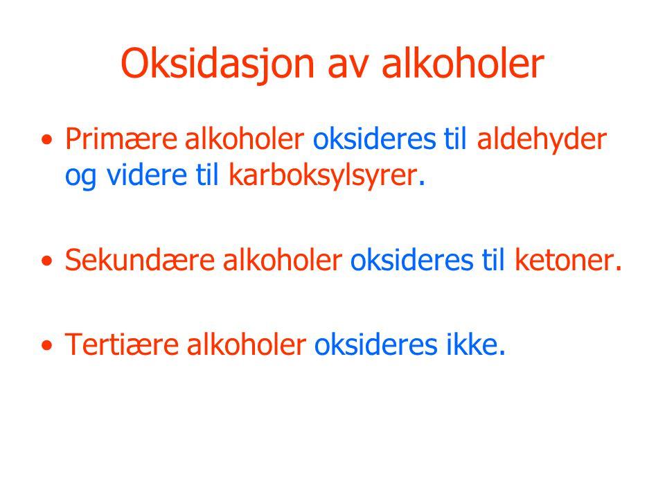 Oksidasjon av alkoholer