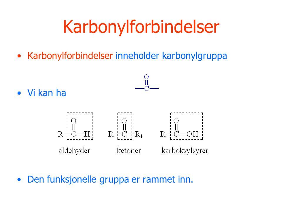 Karbonylforbindelser