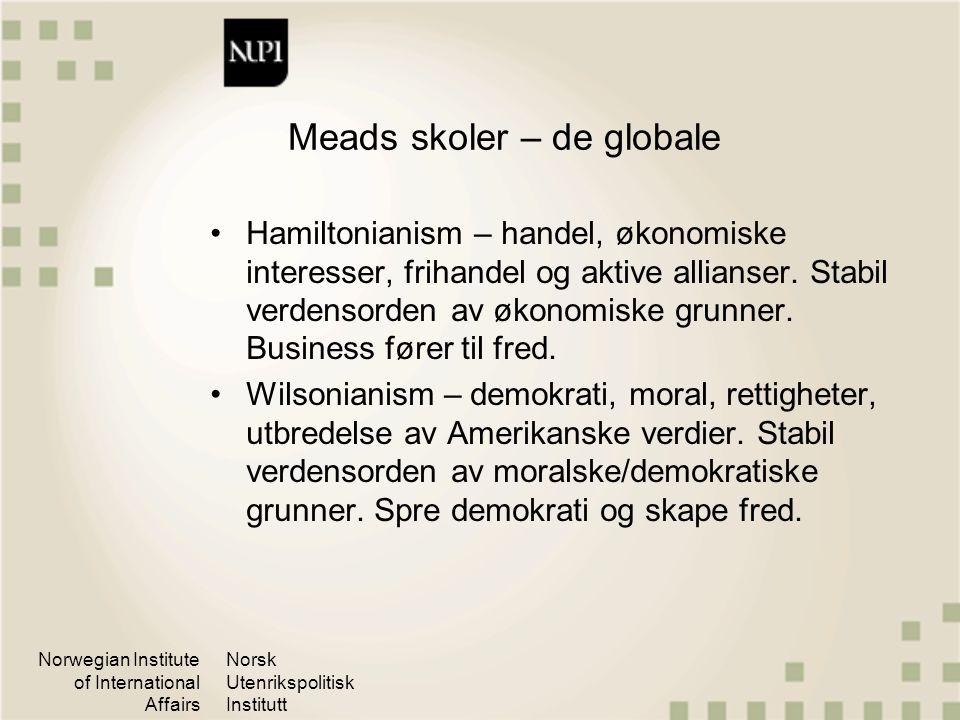 Meads skoler – de globale