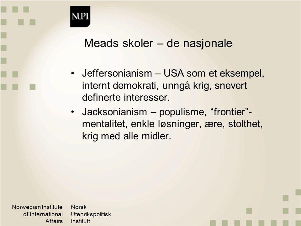 Meads skoler – de nasjonale