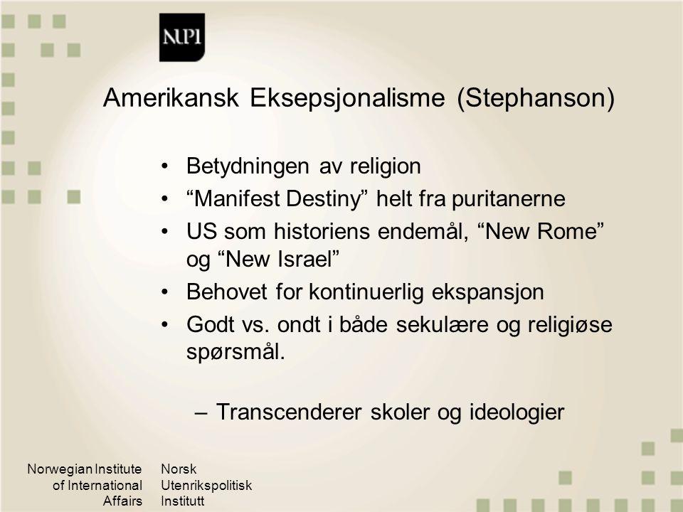 Amerikansk Eksepsjonalisme (Stephanson)