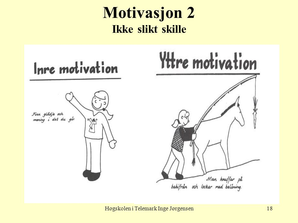 Motivasjon 2 Ikke slikt skille