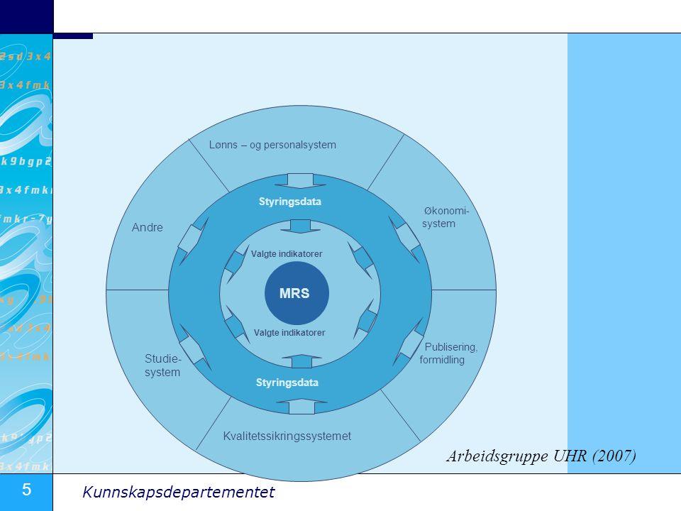 Arbeidsgruppe UHR (2007) MRS Andre Studie- system