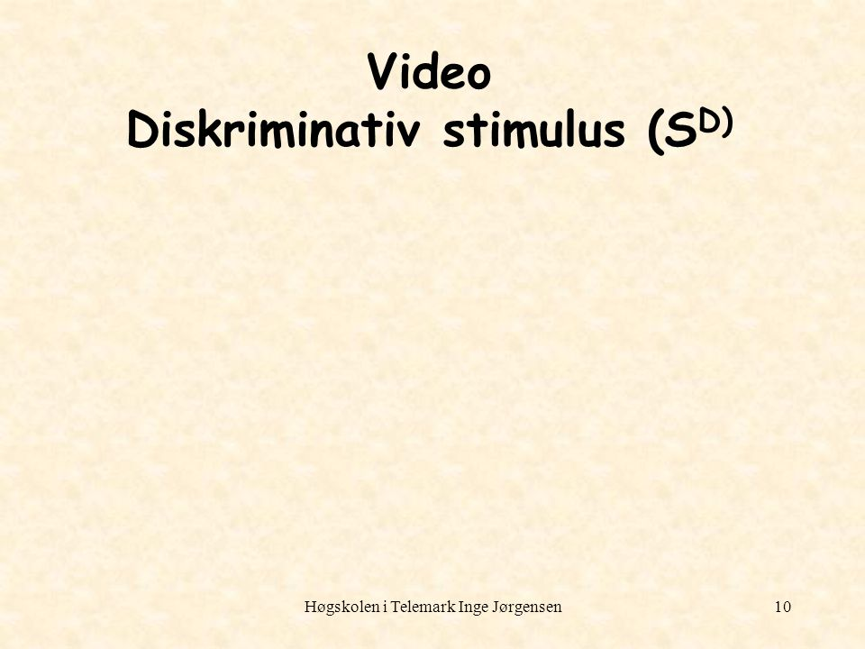 Video Diskriminativ stimulus (SD)