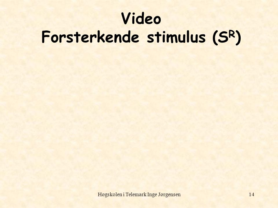 Video Forsterkende stimulus (SR)