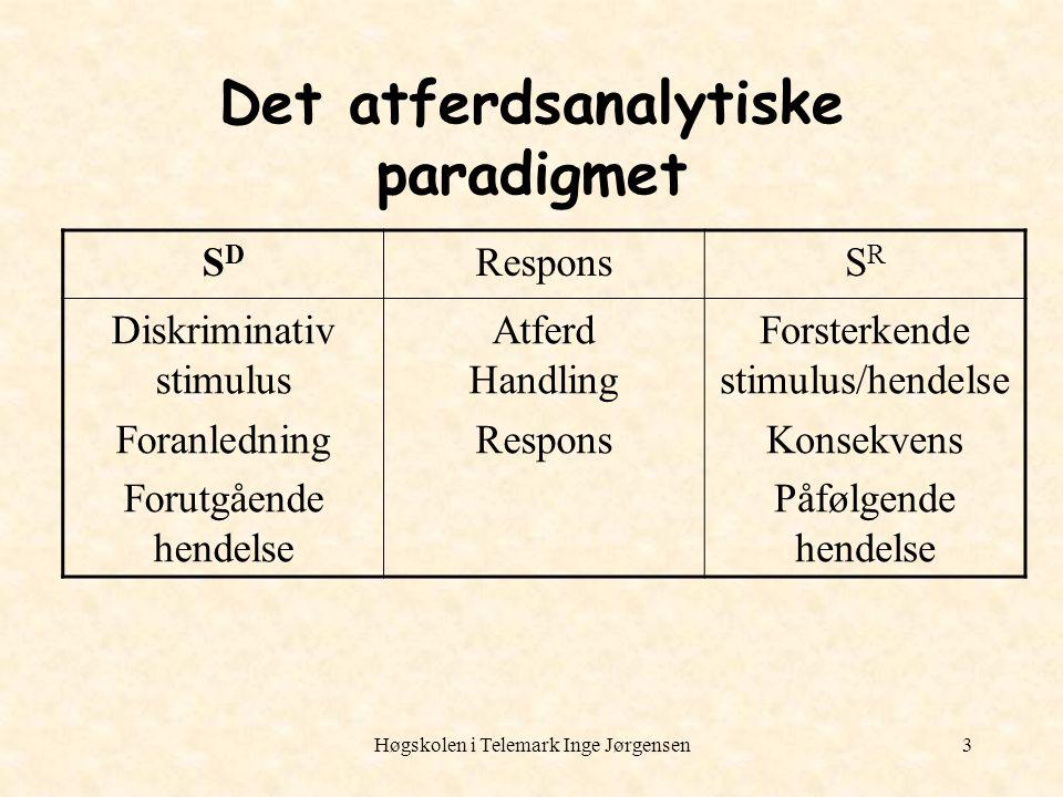 Det atferdsanalytiske paradigmet
