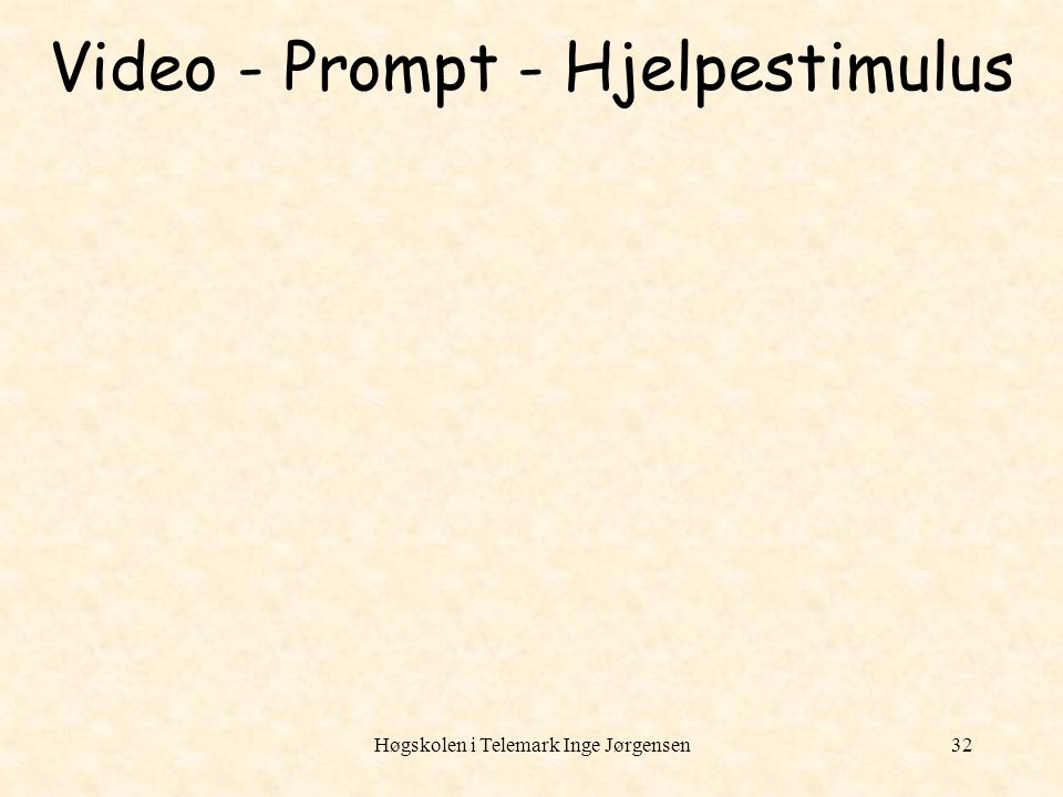Video - Prompt - Hjelpestimulus