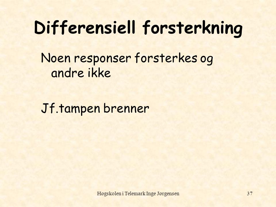 Differensiell forsterkning