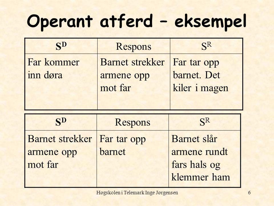 Operant atferd – eksempel