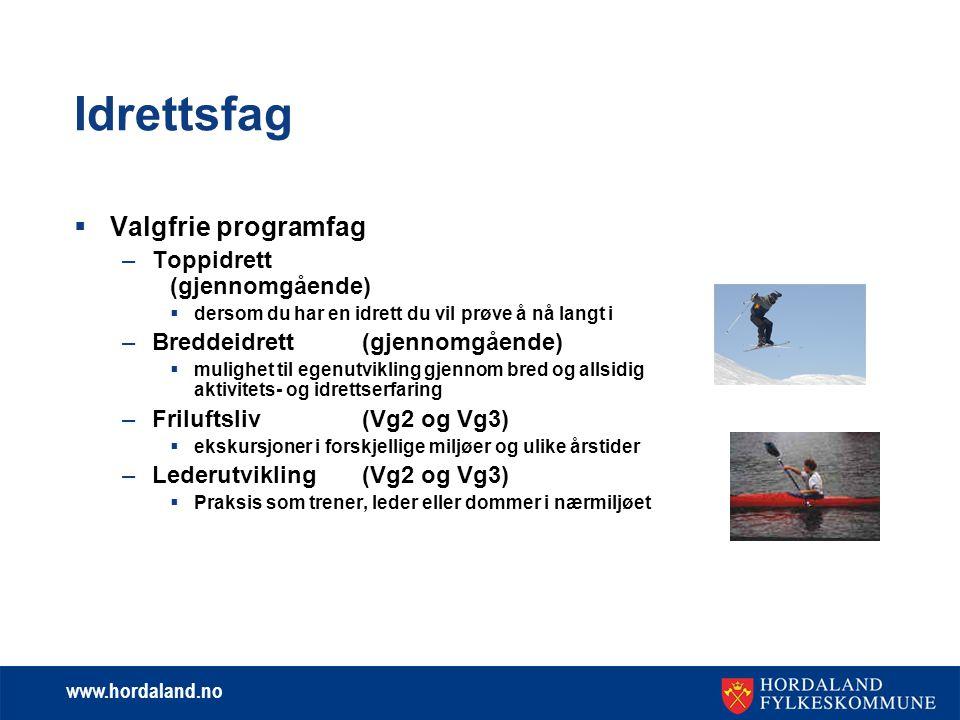 Idrettsfag Valgfrie programfag Toppidrett (gjennomgående)