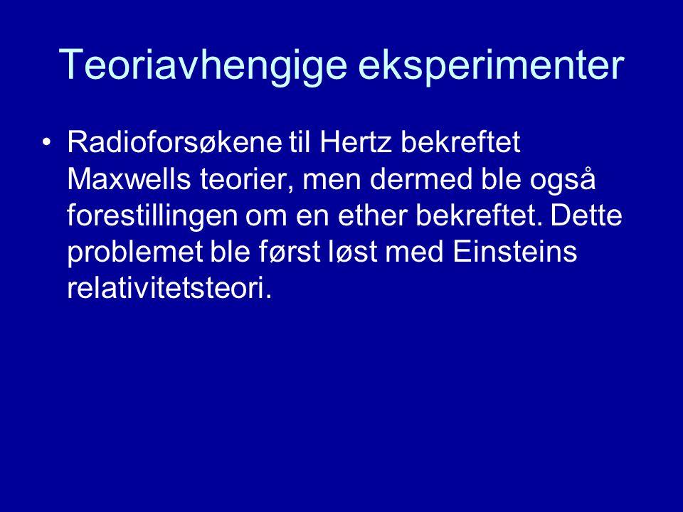 Teoriavhengige eksperimenter